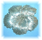 4 Inches Wide Sterling Silver Hibiscus Flower Brooch
