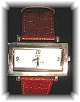 Click to view larger image of Wristwatch Sterling Silver Ecclissi Leather Band (Image1)