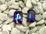 Click to view larger image of Glass Irridescent Purple Clip Earrings (Image7)