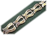 Click here to enlarge image and see more about item 0627200507: Vintage Sterling Silver & Abalone Bracelet