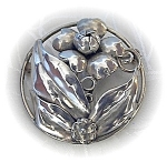 Click to view larger image of Sterling Silver Signed HOBE Brooch (Image1)
