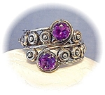 Click here to enlarge image and see more about item 0627200526: Taxco Mexico LOS BALLESTEROS Sterling Silver Amethyst
