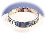 Click here to enlarge image and see more about item 0627200532: Sterling Silver Inlay Bangle MELENDEZ Bracele