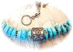 Artist Sleeping Beauty Turquoise Sterling Silver Anna C