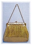 Gold Mesh and Lucite  WHITING & DAVIS Purse