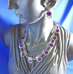 Click to view larger image of Sterling Silver 950 TS-105 Mexico Necklace and Earrings (Image3)