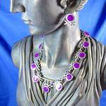 Click to view larger image of Sterling Silver 950 TS-105 Mexico Necklace and Earrings (Image4)
