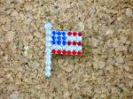 Click to view larger image of USA Flag Pin  Silvertone Rhinestones Brooch (Image3)