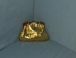 WHITING & DAVIS Gold Mesh Rhinestone Purse USA