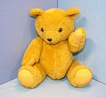 Click here to enlarge image and see more about item 0630200809: Golden Plush Teddy Bear, jointed