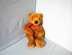Click here to enlarge image and see more about item 0701200217: 20 Inch Dark Pink Russ Berrie Teddy