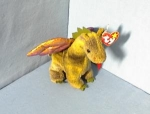 Click here to enlarge image and see more about item 070120026: TY Beanie SCORCH Dinosour.