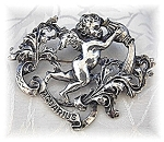 CINI Aquarius Water Carrier Sterling Silver Brooch
