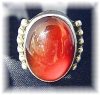 Click to view larger image of Designer Sterling Silver Carnelian Ring . . . . . . . (Image4)