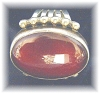 Click to view larger image of Designer Sterling Silver Carnelian Ring . . . . . . . (Image6)