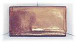 Click here to enlarge image and see more about item 0703200433: Tobacco Brown FOSSIL Checkbook Wallet