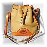 Click to view larger image of  Dooney & Bourke  Large Leather Bucket  Bag (Image1)