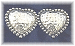 Large Sterling Silver CAJ Heart Earrings