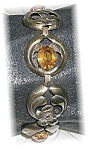 Click here to enlarge image and see more about item 0703200574: 7 1/4 Inch Sterling Silver Gold Vermeil Brace