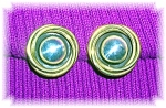 Sterling Silver Mexico Signed LATON Clip Earrings