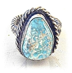 Click to view larger image of Silver and Turquoise ring (Image1)