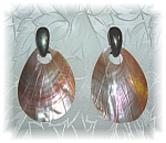 Silvertone French Back Earrings Mother Of Pearl Drop