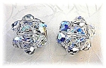 Sparkling Vintage Crystal Bead Clip Earrings