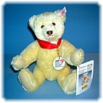 Click to view larger image of White 10 Inch 2002 Anniversary STEIFF Teddy Bear (Image1)