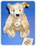 Click here to enlarge image and see more about item 07162006218: 10 Inch Blonde Mohair Steiff Teddy Bear