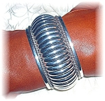 Click to view larger image of Native American Thomas Charley Sterling Silver Cuff (Image1)