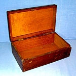 Click to view larger image of Vintage walnut wood box  (Image1)