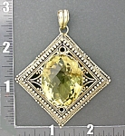 Click to view larger image of Pendant Sterling Silver and Citrine  (Image1)