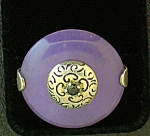 Click to view larger image of Sapphire Lavender Jade  Sterling Silver Ring (Image1)