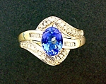 Ring Tanzanite 14K White Gold and Diamond