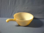 Click here to enlarge image and see more about item 0719200214: Gold/White Fire King Soup/Chile Bowl
