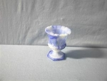 Click here to enlarge image and see more about item 0719200215: Blue on Blue  Milkglass Toothpick Holder