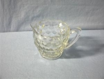 Click here to enlarge image and see more about item 0719200227: Small White Depression Glass Creamer.