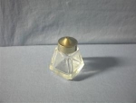 Cut Glass Oriental Design Salt Shaker