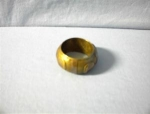 Click here to enlarge image and see more about item 0719200231: Indian Brass Ornate Napkin Ring.
