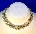 Antique Crystal Rhinestone  Collar Necklace