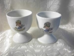 Click here to enlarge image and see more about item 0720200261: Egg Cups China Children and Kitties