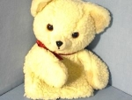 Click here to enlarge image and see more about item 0720200275: 1986 Snuggle Bear Russ Berrie Glove Puppet