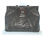 Click to view larger image of Large Black Patent Leather Tote Bag (Image1)