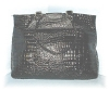 Click to view larger image of Large Black Patent Leather Tote Bag (Image2)