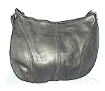 Click here to enlarge image and see more about item 0720200418: Enormous Saks Fith Avenue Black Leather Bag
