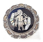 Click to view larger image of Large Old Mexican Sterling Abalone Brooch (Image1)