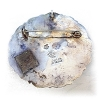 Click to view larger image of Large Old Mexican Sterling Abalone Brooch (Image2)