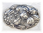 Click to view larger image of Danecraft Sterling Silver Flowers Vines Brooch (Image1)