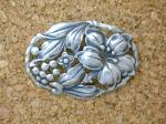 Click to view larger image of Danecraft Sterling Silver Flowers Vines Brooch (Image5)