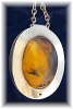 Click to view larger image of Sterling Silver & Amber Necklace Made in Denmark (Image3)